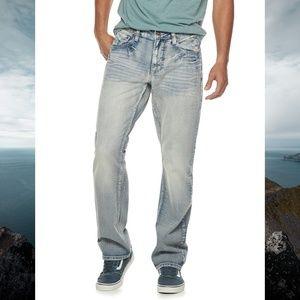 Flypaper Men's Cross Hatch Straight Leg Jeans